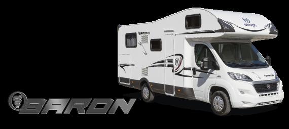 Obytný vůz Baron 22 s alkovnou model 2018