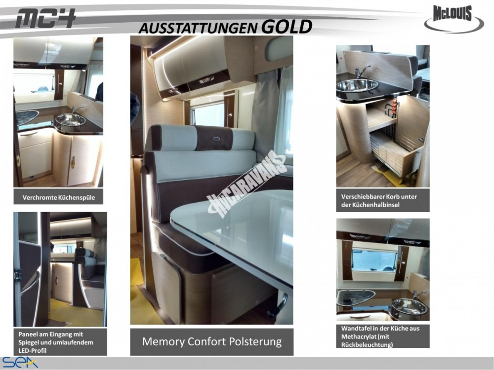 Polointegrovaný obytný vůz MC4 74G MODEL 2017 GOLD č.10