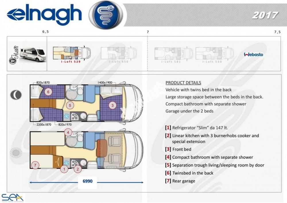 Celointegrovaný obytný vůz I-LOFT 529 model 2018 č.8