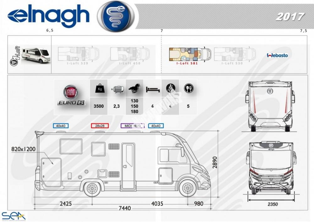 Celointegrovaný obytný vůz I-LOFT 581 model 2018 č.9