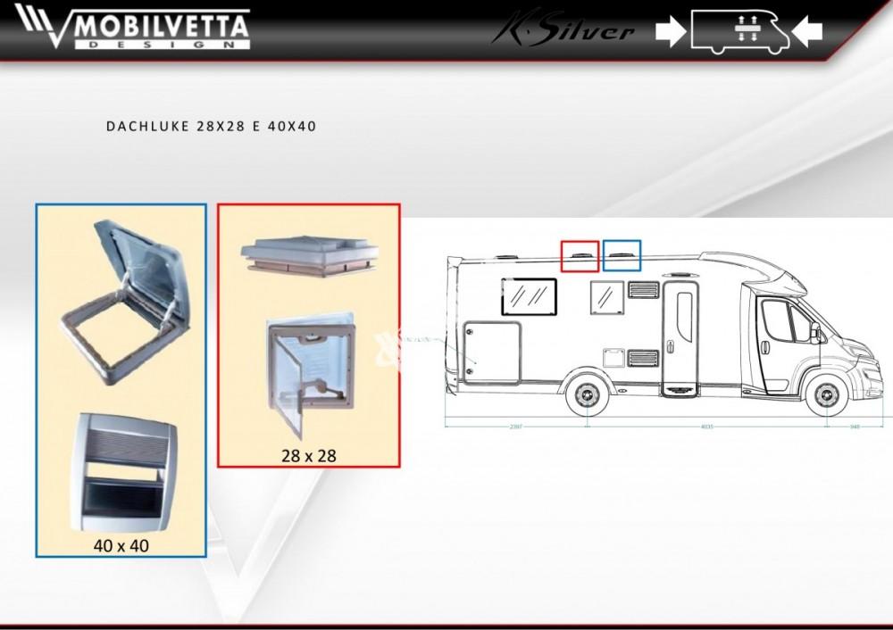 Polointegrovaný obytný vůz Mobilvetta K.Silver 56 model 2018 termín dodání skladem Mar Lázně č.21