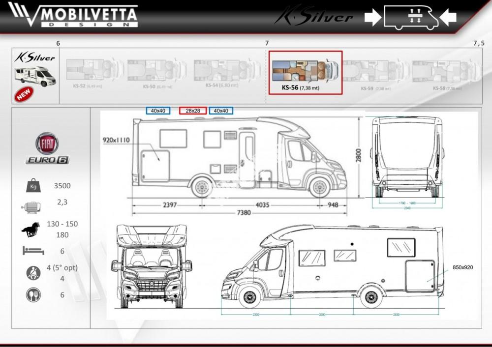 Polointegrovaný obytný vůz Mobilvetta K.Silver 56 model 2018 termín dodání skladem Mar Lázně Prodáno č.17