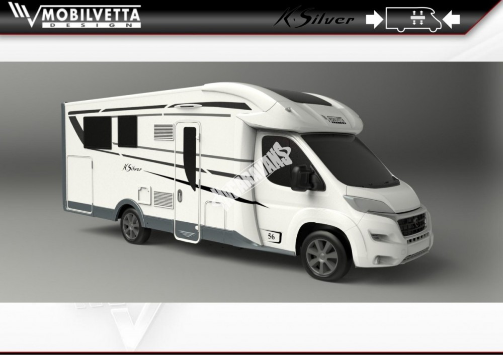 Polointegrovaný obytný vůz Mobilvetta K.Silver 58 model 2018