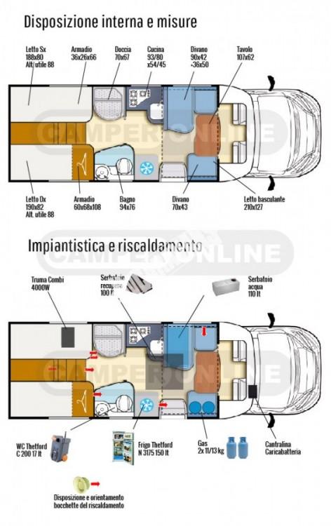 Polointegrovaný obytný vůz T-LOFT 530 model 2017 Prodáno č.12