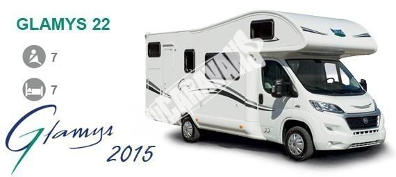 Obytný vůz GLAMYS 22. 7osob jízda/spani s alkovnou garáží 130 PS Klimatizace Safety Pack Alu kola č.4