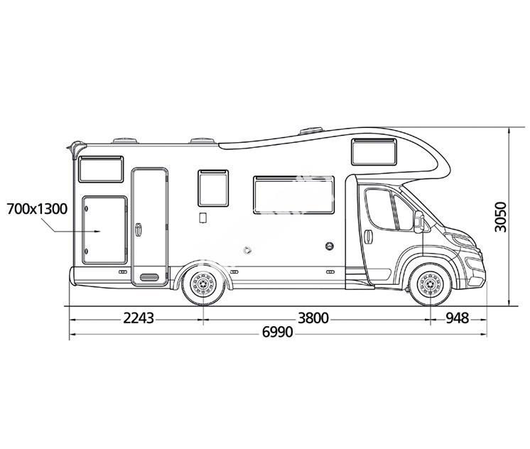 Obytný vůz GLAMYS 22 s alkovnou garáží model 2018 č.2