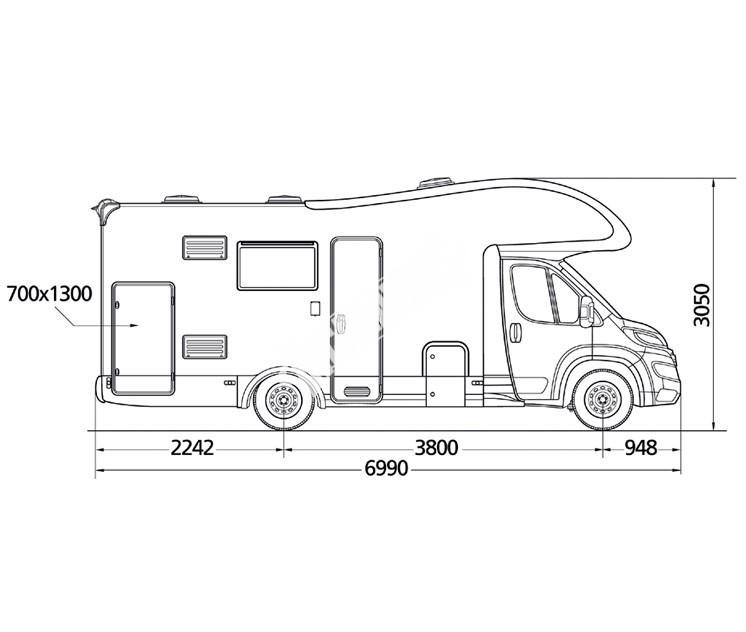 Obytný vůz GLAMYS 40 s alkovnou model 2018 č.3