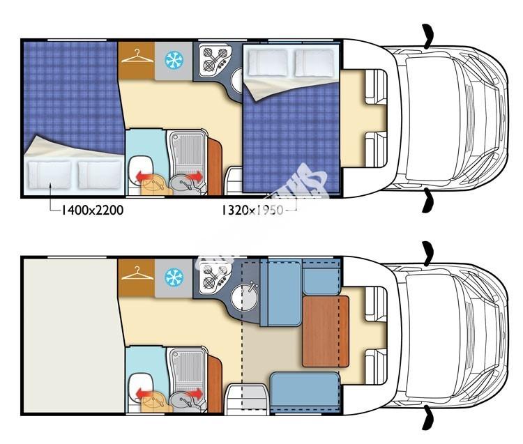 Polointegrovaný  vůz Elnagh Baron 450 G 130 PS,Klimatizace,Safety Pack č.2