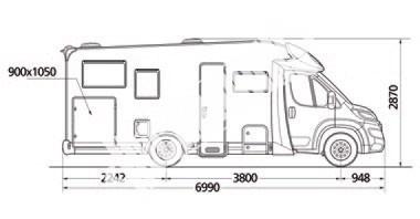 Polointegrovaný  vůz Elnagh Baron 450 G 130 PS,Klimatizace,Safety Pack č.3