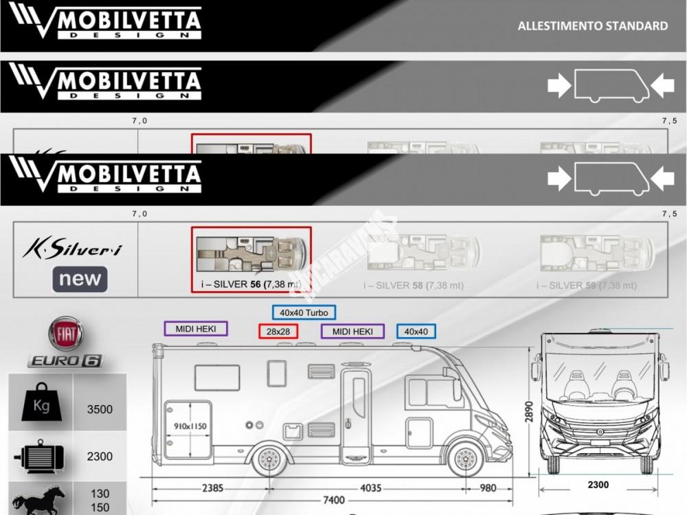 Celointegrovaný obytný vůz Mobilvetta I.Silver 56 model 2018 skladem Mar-Lázně Rezervace č.14