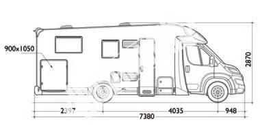 Polointegrovaný karavan Baron 73 G 130 PS Klimatizace Safety Pack,Alu kola 16