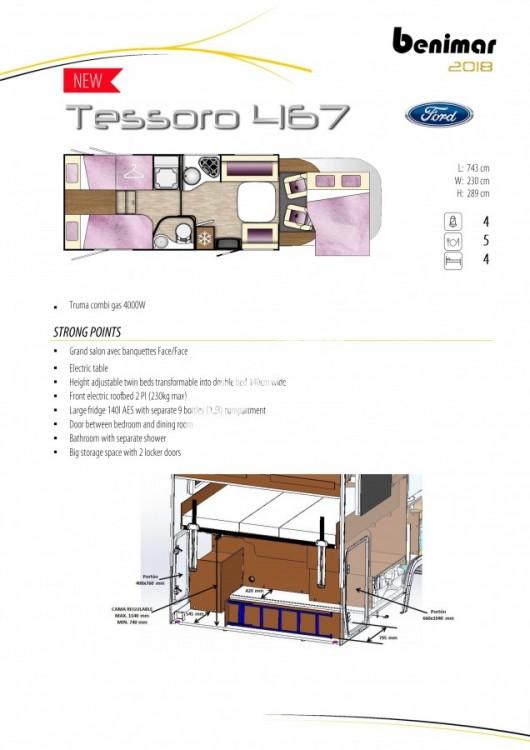 BENIMAR Tessoro  467 model 2018 170 PS skladem 10/2017 spouštěcí zadní lůžka / TOP záruka FORD na  5 let !!! č.11