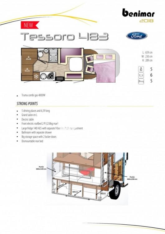 Obytný vůz Benimar Tessoro  483 model 2018 č.21