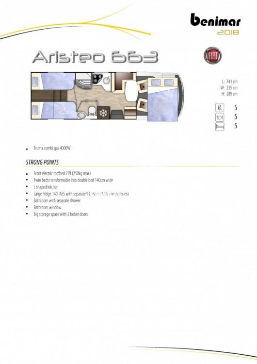 Obytný vůz Benimar Aristeo A 663 FIAT 150 PS Vista Pack skladem  Prodáno č.15