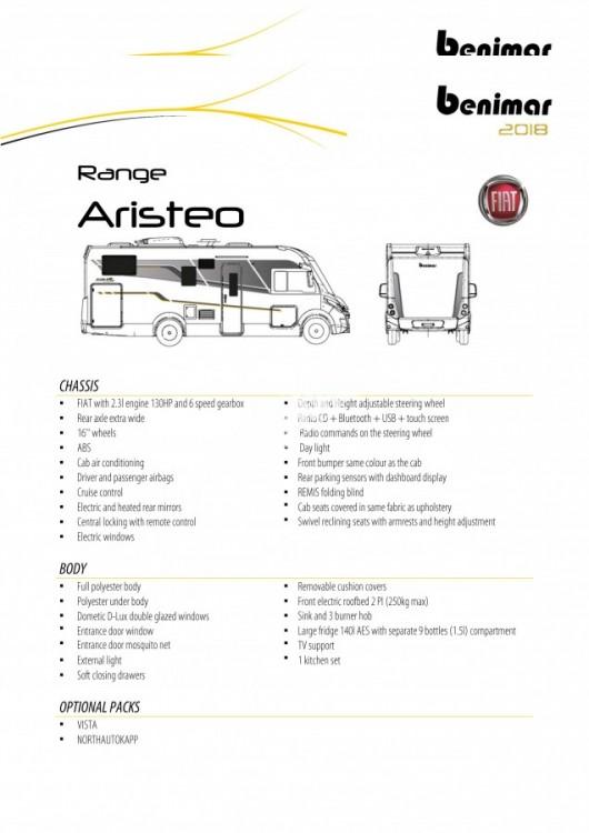 Obytný vůz Benimar Aristeo A 663 FIAT 150 PS Vista Pack skladem  Prodáno č.16