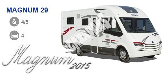 Celointegrovaný karavan Elnagh Magnum 29 s garáží 150 PS Prodáno !!! č.26