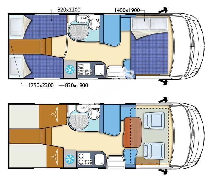 Celointegrovaný karavan Elnagh Magnum 29 s garáží 150 PS Prodáno !!! č.27