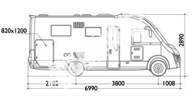 Celointegrovaný karavan Elnagh Magnum 29 s garáží 150 PS Prodáno !!! č.28