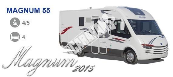 Celointegrovaný karavan Elnagh Magnum 55 s garáží  150 PS Klimatizace  Safety Pack č.1