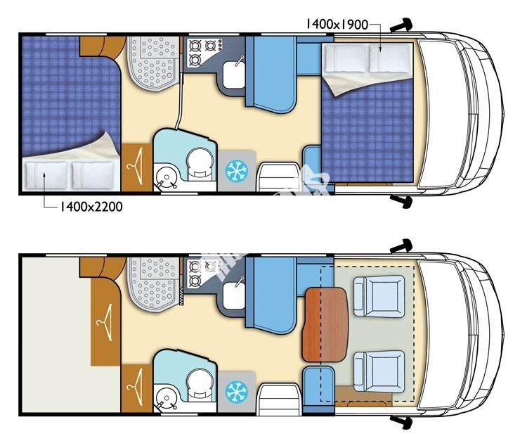 Celointegrovaný karavan Elnagh Magnum 55 s garáží  150 PS Klimatizace  Safety Pack č.2